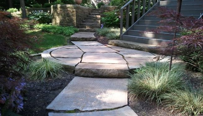 Intricate Cut Sandstone Pavers & Steps