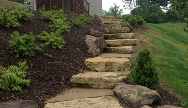 Natural Limestone Slab Steps