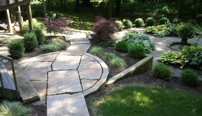 Intricate Cut Stone Pavers & Steps